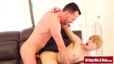 BRINGMEABOY Young Daniel Hausser Blows Daddy Before Bareback