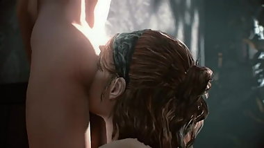 Lesbian ass eating between Tess (The Last of Us)