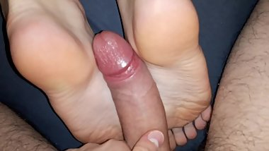Perfectly fucked in feet and wet pussy