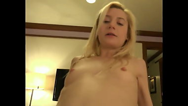 young pretty blonde homemade pov sex