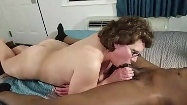 Grandma Nympho Loves Sucking Young Black Dick All Day