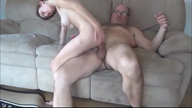 OLD Man with Big COCK Abuses College Girl