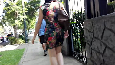 BEAUTIFUL YOUNG IN FLOWERED DRESS