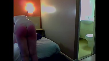 Young British Housewife Strapped in  Hotel Room