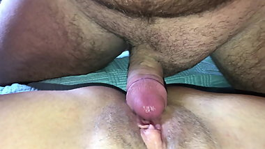 Daddy fucking my big pussy and sexy feet with cleanup