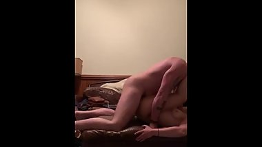 Full length hot amateur couple living room fuck with cream pie!
