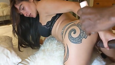 Young brunette wife takes BBC