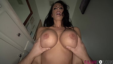 Hot Mom is More than Willing To Help Son with Big His Dick