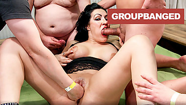 Jizz Covered GangBang Empress