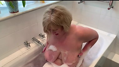 British Gilf dreams about young black cock creampie. BBC