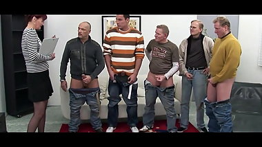 Old brat gangbanged by a team of horny men Old lady gangban