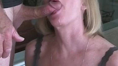 Granny Gives Blowjob Before The Big Office Cocktail Party