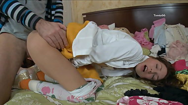 YOUNG AMY. PANTYHOSE ASS FUCK BJ PART 1 N PART 2