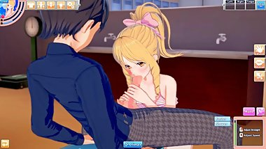 3D Hentaigame - yamada elf 1 // Head lick & blowjob