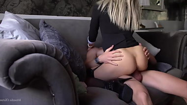 Young Secretary In High Heels Gets Fucked In Office
