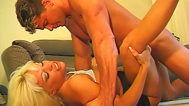 Sultry Blonde MILF Sex With Young Hunky Boyfriend