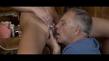 Old daddy cheating fuck young girl