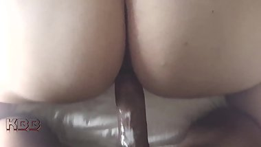 Young big booty latina MILF creaming BBC doggystyle.. Then she tapped out