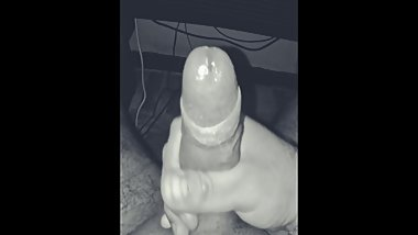 HornyFran B&W Masturbation and cumshot