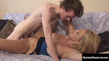 Horny Cougar Charlee Chase Bangs Son's School Mate!