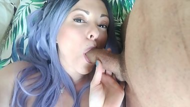 Beautiful blowjob - cum in mouth