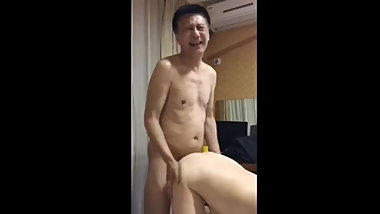 Amateur Asian Grandpa Filmed With Younger Prostitute