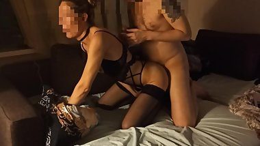 Elite Prostitute made a Blowjob and gave anal in beautiful lingerie, spycam