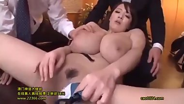 Company Slave Unpaid Overtime Les x Flop Tits Woman Boss Hitomi