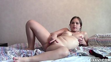 First masturbate wet pussy young chubby Sofy
