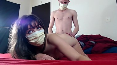 Quarantined Teen Slut Risks Corona Virus