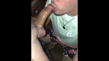 Young latino sucking on daddyТs cock
