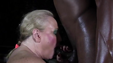 White school teacher worships young black cock. Mature Perv